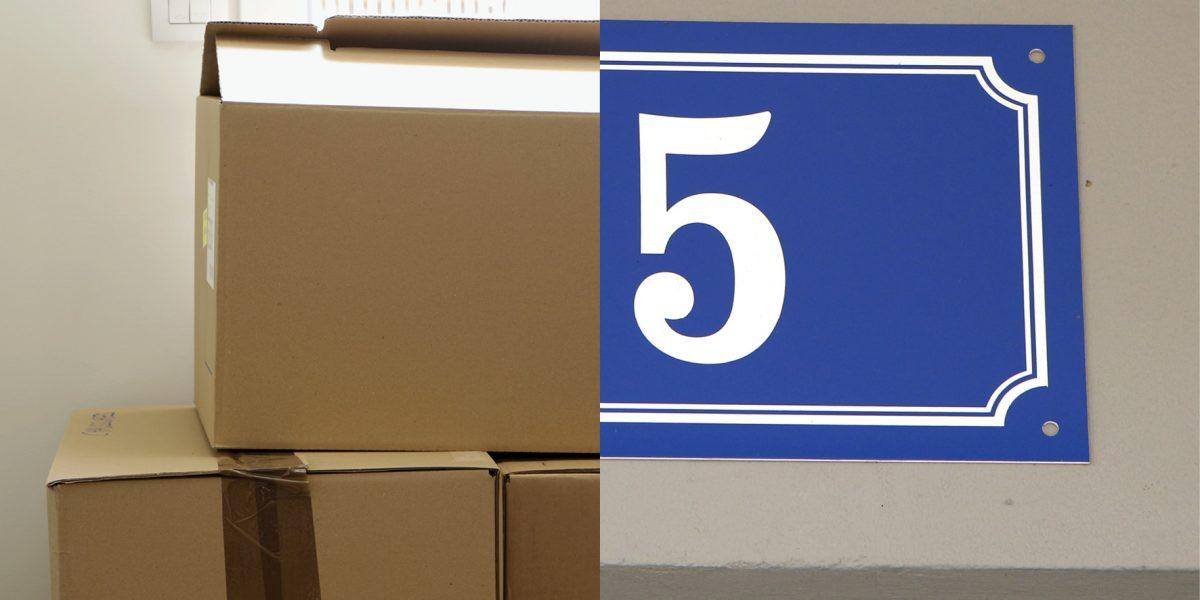 23 cartons et quelques meubles